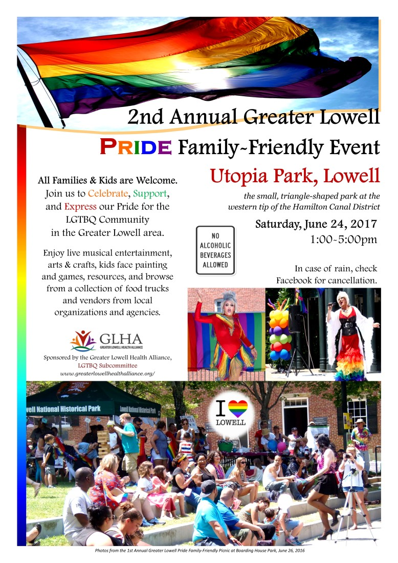 2nd Annual Greater Lowell Pride 2017 Flyer